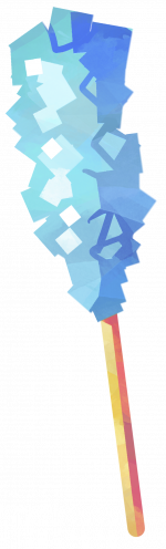 Blue rock candy png