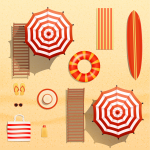 Realistic vector objects illustration