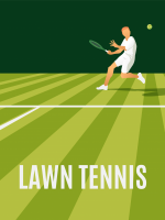 vector illustration of a male tennis player returning a serve on