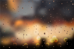 vector illustration of water drops on a window glass after the rain