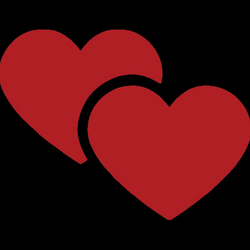 Two Hearts Emoji for Facebook, Email & SMS | ID#: 10102 | Emoji.co.uk