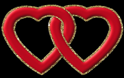 Two Red Hearts with Gold Frame PNG Clipart | Gallery Yopriceville ...
