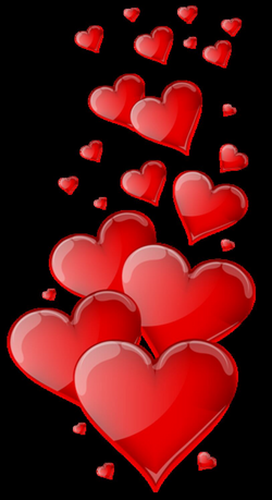 Red Hearts PNG Clipart Image | cliparts 1... | Pinterest | Clipart ...