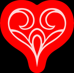Clipart - Abstract heart 4 (colour)