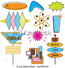 advertising clipart 50's