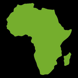 Green africa continental map - Transparent PNG & SVG vector