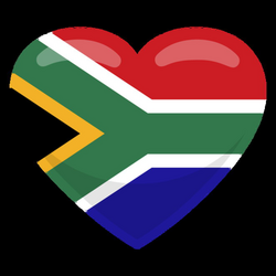 South africa heart flag - Transparent PNG & SVG vector