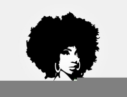 Black Woman With Afro Clipart | Free Images at Clker.com - vector ...