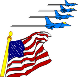 american clipart flying