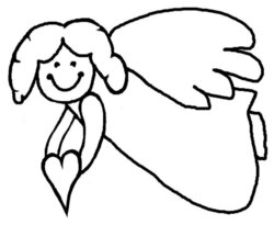 angels clipart colouring