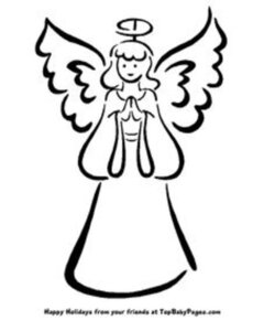 angel clipart easy