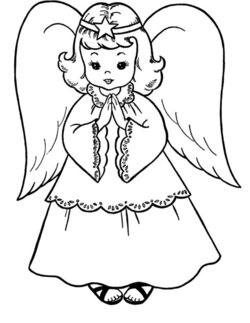 angel clipart realistic
