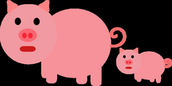 Mother And Baby Piglet Clip Art at Clker.com - vector clip art ...