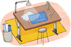 architect clipart drafting table