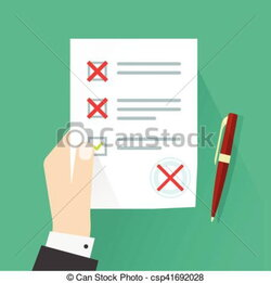 assessment clipart paper record