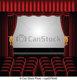 curtains clipart auditorium