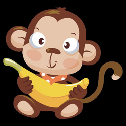 monkeys bananas clipart png