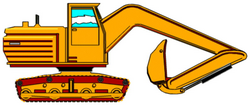 Backhoe Construction Free Animated Clipart - Clip Art Bay