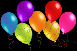 Large Transparent Colorful Balloons Clipart | Gallery Yopriceville ...