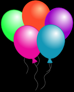 Number 5 Balloon Clipart