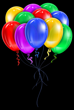 Transparent Multi Color Balloons PNG Picture Clipart | birthday wish ...