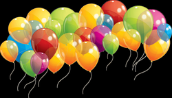 Group Of Balloons Taking Of transparent PNG - StickPNG