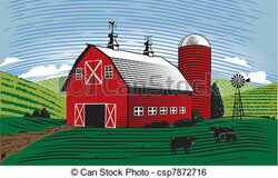 barn clipart farm land