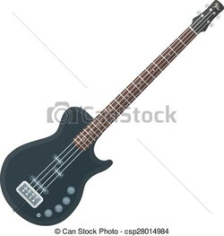 bass clipart electric