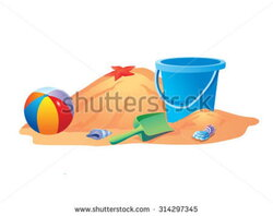 beachball clipart sand bucket shovel
