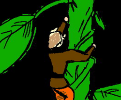 beanstalk drawing cartoon