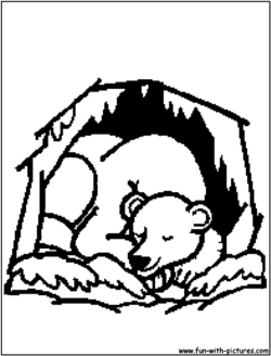 Unsurpassed Hibernating Bear Coloring Page Bears Clipart Images ...