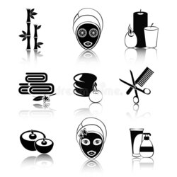 spa clipart black and white