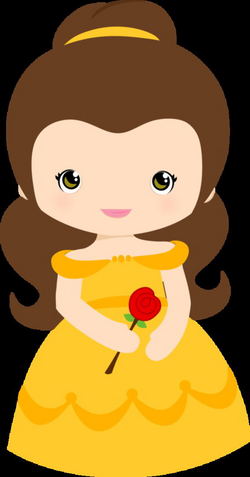 belle vector silhouette yellow