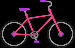 Girl On Bicycle Clipart