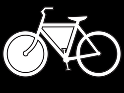 Clip Art: bicycle route sign black white line ... - ClipArt Best ...