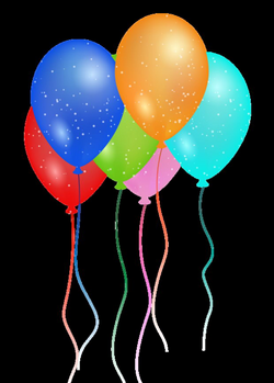 Birthday Party Balloon PNG image - PngPix