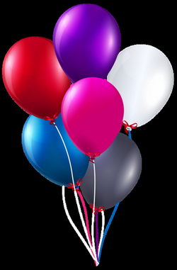 Colorful Bunch of Balloons PNG Clipart Image | clipart/svg files ...