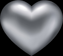 Silver Heart Transparent PNG Clip Art | Gallery Yopriceville - High ...