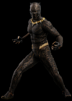 black panther gold suit wallpaper