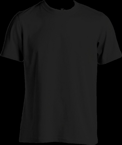 black tshirt front png