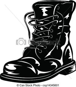 boot clipart army boot