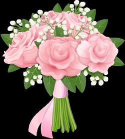 pink roses bouquet png