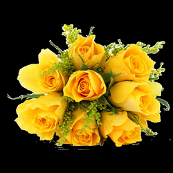 bouquet of yellow roses png