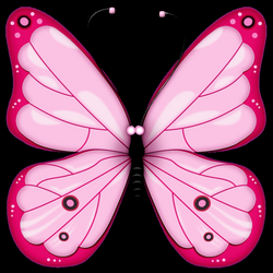 Pink Transparent Butterfly Clipart | Gallery Yopriceville - High ...