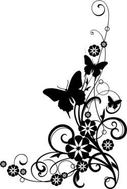 butterfly clipart vine