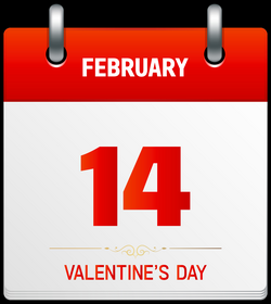 Valentine's Day Calendar Transparent PNG Clip Art Image | Gallery ...