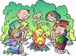 campfire clipart friend