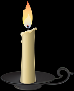 transparent candles candlestick