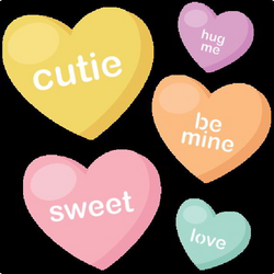 Candy Hearts SVG cutting files valentine svg files valentines svg ...