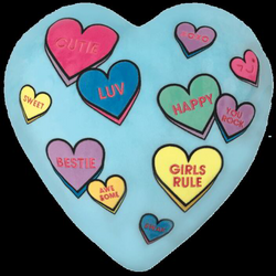 Candy Hearts Scented Embroidered Pillow | Iscream